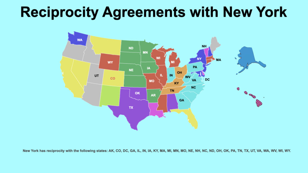 Reciprocity Agreements with New York State